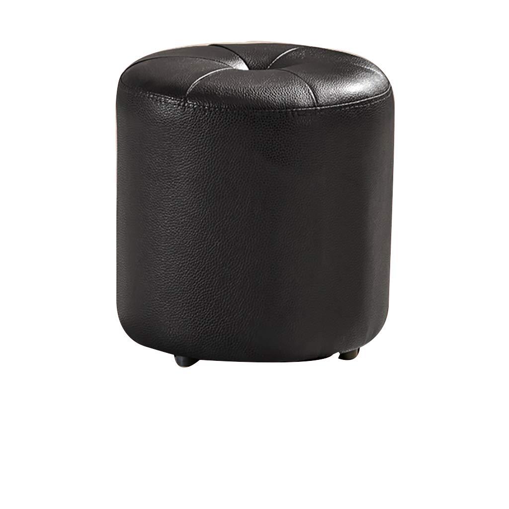 A Tabouret en Cuir Petit Tabouret Tabouret Tabouret Repose-Pieds portable Confortable Confortable Facile à stocker34  36cm