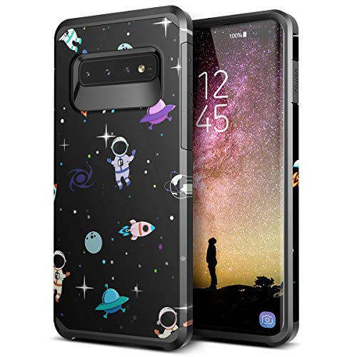 - Galaxy S10 Plus case - SmartLegend Slim Heavy Duty Protective Armor Hybrid Dual Layer Shockproof Case for Samsung Galaxy S10 Plus 6.4 inch-Black Space
