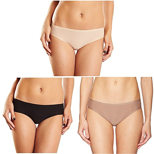Chantelle Women's Soft Stretch Low Rise Hipster, Ultra Nude/Black/Hazelnut, One Size