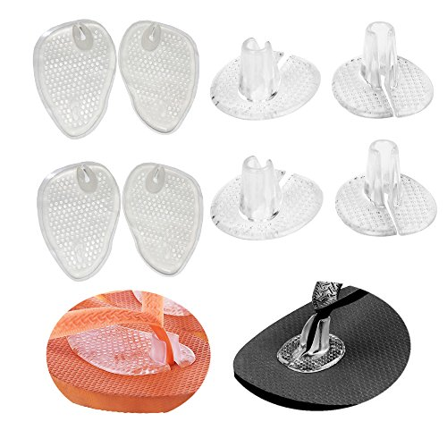 4 Pairs Soft Silicone Gel Thong Sandal Spreader Toe Guards Cushions Flip Flop Inserts Toe Protector