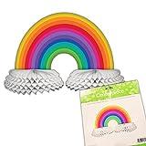 Creative Converting Paper Centerpiece Decoration, Rainbow