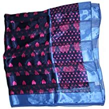 Ted and Jack - So In Love Oversized Square Silk Feel Heart Print Scarf