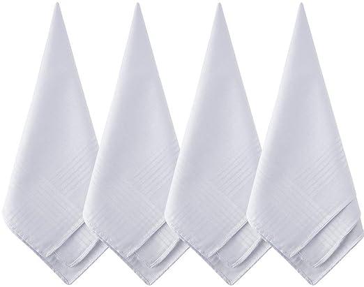 Anjing Pañuelos de algodón Blanco Puro, tamaño Grande, 12 Unidades ...