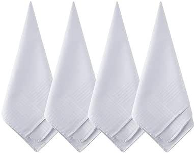 Anjing Pañuelos de algodón Blanco Puro, tamaño Grande, 12 Unidades, para Hombre: Amazon.es: Hogar