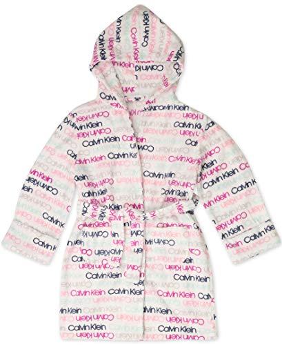 Calvin Klein - Albornoz con puño para niña, CK Logo Multi, Large / 10-12 US