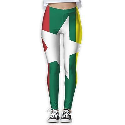 Flag Of Myanmar Fashion Health Fitness Women Yoga Pants Leggings Power Flex