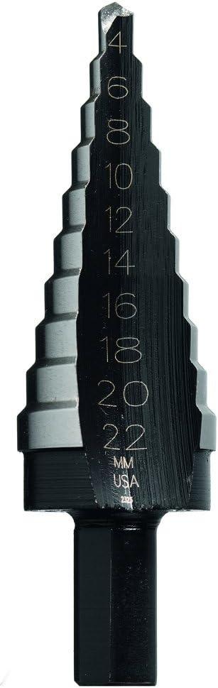 Irwin 11580 Unibit20M 14-Millimeter to 24-Millimeter by 1//2-Inch Shank Hole Enlarging Step Drill Bit