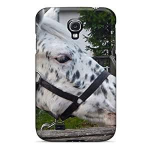 Premium OlQnIOA4873trStr Case With Scratch-resistant/ Nature Cats Animals Kissing Horses Case Cover For Galaxy S4