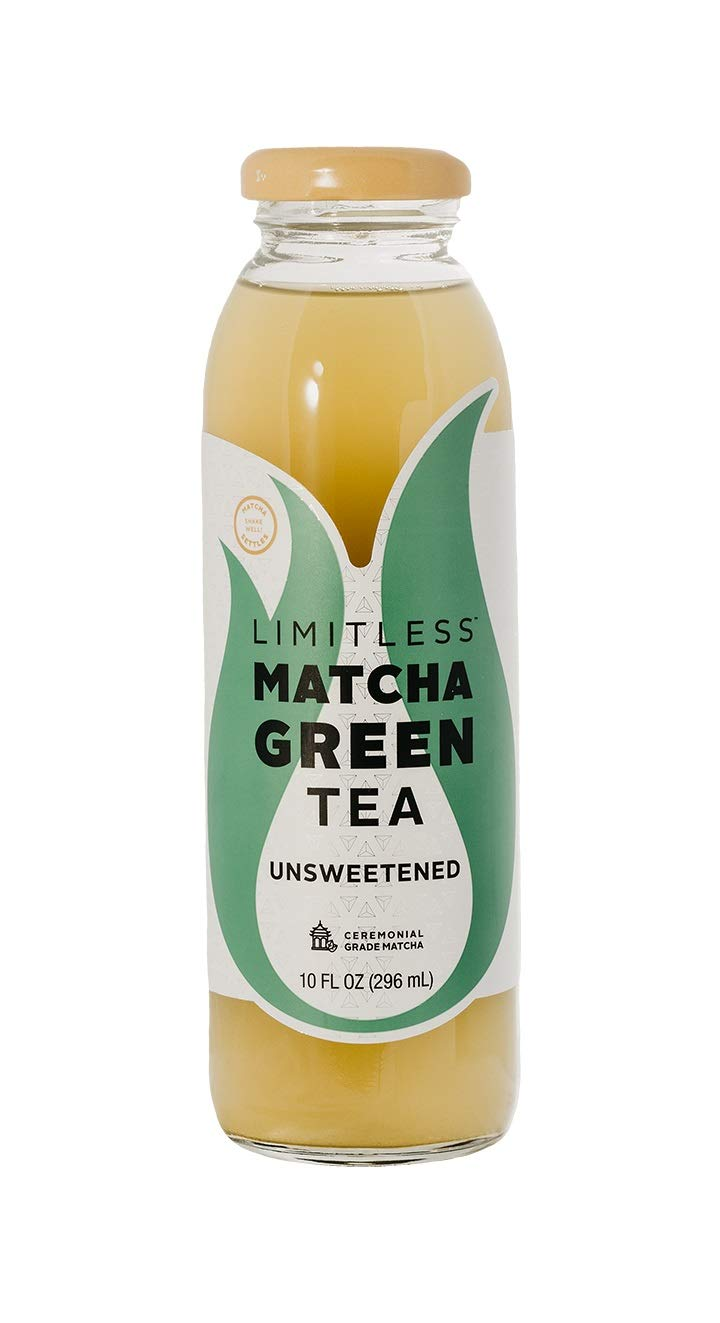 Limitless Coffee Matcha Green Tea, Unsweetened, 10 Ounce (Pack of 6)