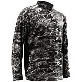 Huk Men's Elements Icon 1/4 Zip Long Sleeve Shirt,Elements Bluefin,Large