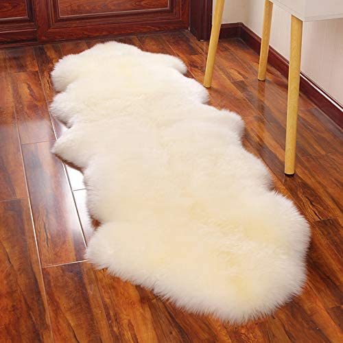 Genuine Long Wool Sheepskin Rug Double/2ft x 6ft