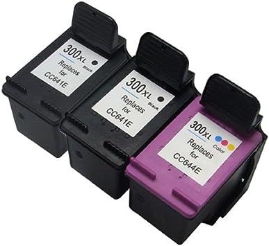 Cartucho de tinta Remanufactured como un sustituto de HP 300XL (2x Negro, 1x Color, 3er-Pack): Amazon.es: Electrónica