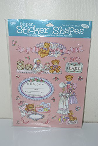 Sweet Girl France Meyer Super Sticker Shapes Baby Scrapbooking Sticker - Scrapbooking Frances Stickers Meyer
