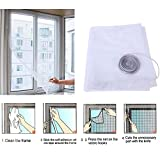 Insect Fly Bug Mosquito Door Window Net Netting High Quality Mesh Screen Sticky Tape^Black