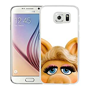 Hot Sale Samsung Galaxy S6 Case ,Unique And Beautiful Designed Samsung Galaxy S6 Case With Miss Piggy White Phone Case