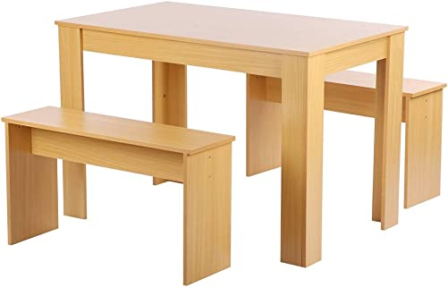 Reviewed: Greensen Modern Dining Table Set 3 Pieces Farmhouse Kitchen Table Set