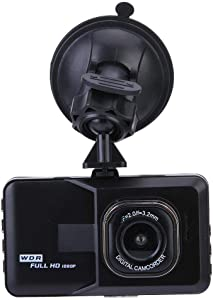 ZQQFR 1080P Car Dash Cam, Full HD Driving Recorder Vehicle Camera DVR Dashcam with Motion Detection Night Vision G Sensor, Loop Recording
