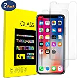 iPhone X Screen Protector (2-Pack),Ballistic Tempered Glass Screen Protector for iPhone X 2017[Case Friendly] [Easy Install] [3D Touch] [Ultra Clear] [Shatter Proof]