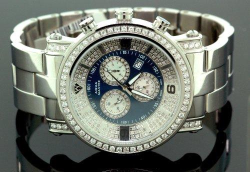 Aqua Master Diamond Mens Watch 3.60ct w104b by Aqua Master