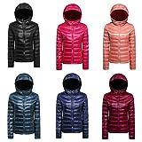 CHERRY CHICK Women's Ultralight Down Parka Jacket Medium Black offers