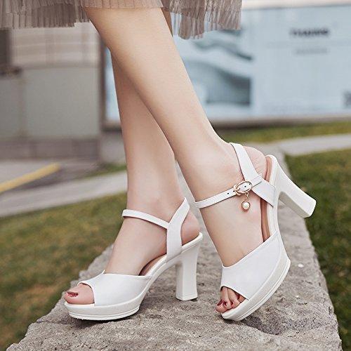Poissons Femmes Talons Chaussures Sandales Femmes EU35 UK107 Sourire Confort Avec Élégant Hauts Bouche Chaussures Gras Sangle À SHOESHAOGE qdZEYxCqw