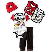 Disney Baby Mickey Mouse 5 Piece Layette Box Set, White, 0-6 Months
