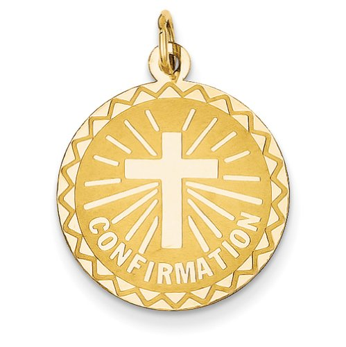 Confirmation Disk - 14k Yellow Gold Confirmation Disc Charm