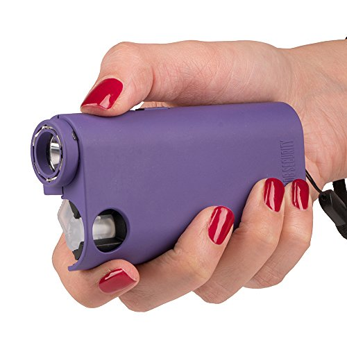 World's Only All-In-One Stun Gun - Pepper Spray - Flashlight, Guard Dog Security Olympian, Purple
