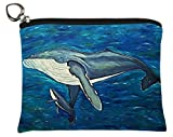 Whale Change Purse, Vegan Coin Purse - Animals - From My Original Paintings - Support Wildlife Conservation, Read How (Whale - Elusive Intoner)