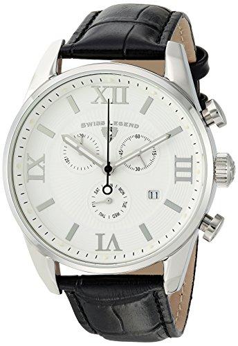 Swiss Legend Men's Bellezza Stainless Steel Swiss-Quartz Watch with Leather Calfskin Strap, Black, 21 (Model: - Men Legend Watches Swiss