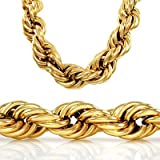 30 inch 20mm GOLD STYLE THICK ROPE RUN DMC DOOKIE HIP HOP CHAIN NECKLACE image