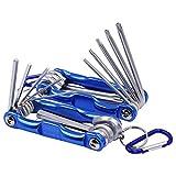 Yakamoz 2 in 1 Tool Set, 8-Piece Tamper Proof Torx Folding Star Key Set & 8-Piece Folding Hex Key Wrench Set