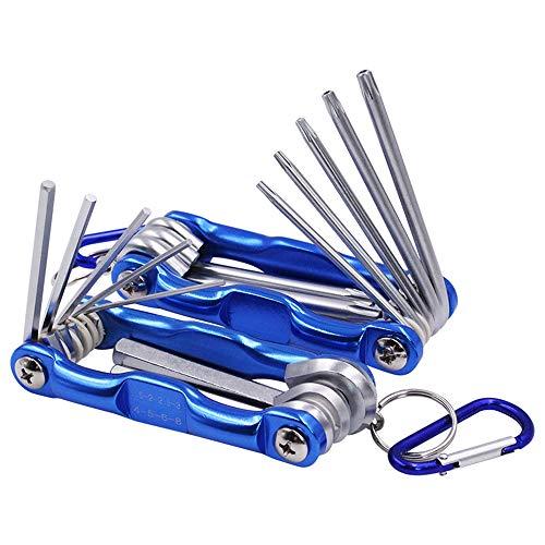 (Yakamoz 2 in 1 Tool Set, 8-Piece Tamper Proof Torx Folding Star Key Set & 8-Piece Folding Hex Key Wrench)