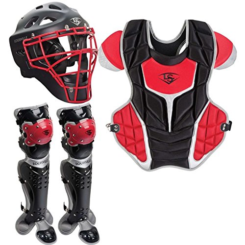 Louisville Slugger Youth PG Series 5 Catchers Set, Black/Scarlet