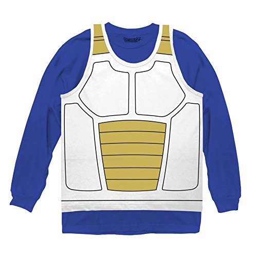 Dragon Ball Z Vegeta Saiyan Armor Costume Cosplay Shirt (XX-Large) (Dbz Vegeta Costume)