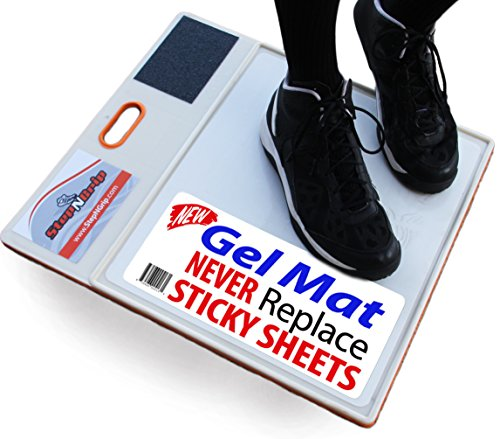Traction Grip (StepNGrip Courtside Shoe Grip Traction Mat - Newest Sticky Mat - Never Needs Replacement Sheets, Allows Court Grip for Basketball Volleyball. Sticky Stop Power)
