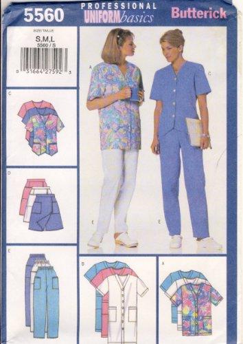 Butterick Sewing Pattern 5560 - Use to Make - Fast & Easy Misses' Uniform Basics - Dress, Top, Skort, Pants - Misses Sizes S, M, L ()
