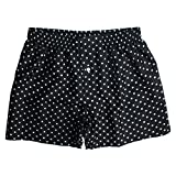 Sexy Black Silk Polka Dot Boxers by ROYAL SILK - Men's XL (37-38'')