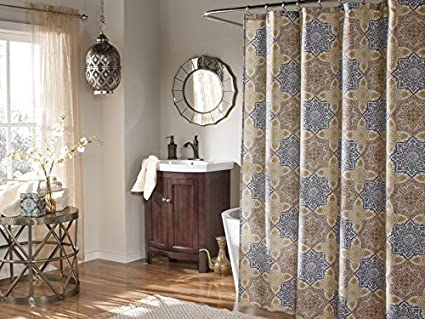Mstyle Morocco Shower Curtain Indigo
