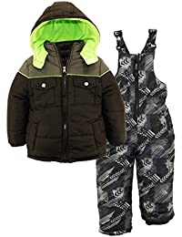 2-Piece Snowsuit for Boys, Infants & Toddlers – Camo Print Bottoms