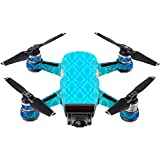 MightySkins Skin For DJI Spark Mini - Blue Vintage | Protective, Durable, and Unique Vinyl Decal wrap cover | Easy To Apply, Remove, and Change Styles | Made in the USA