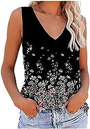Womens Tie Dye Tank Tops Sleeveless Scoop Neck Henley Shirt Summer Casual Workout Tees Yoga Basic Vest