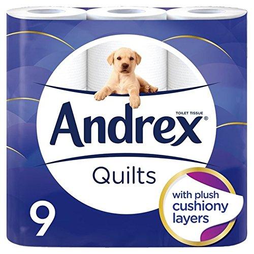 Andrex Quilts Cushioned Softness Toilet Tissue 9 per pack (Pack of 6) - キルトはパックあたりの柔らかトイレットペーパー9をクッション性 x6 [並行輸入品] B0727R6DFK