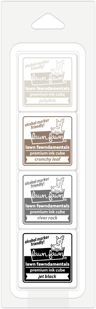 Lawn Fawn Pottery Studio Premium Ink Cube Pack, 4 1-Inch Cubes (LF2274)