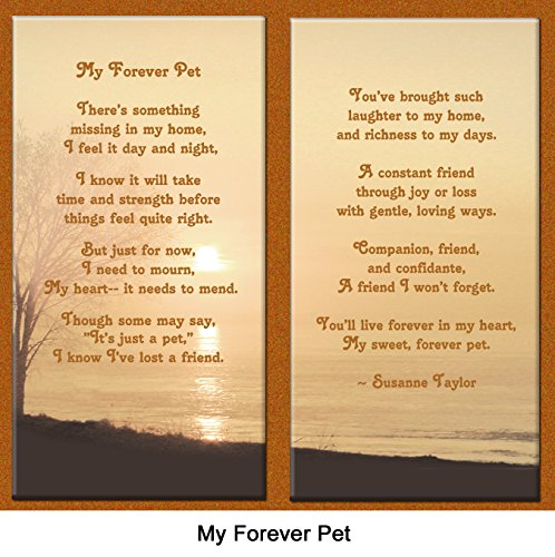 Pet-Lover-Remembrance-Gift-My-Forever-Pet-Memorial-Pet-Loss-Picture-Frame-and-Sympathy-Gift-Package-with-optional-custom-photo-editing-Ginger-with-Foil-Accent