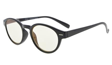 57b28d394d Eyekepper Vintage estilo ronda marco ordenador lectores bisagras de resorte  ordenador eyeglasses (Lente amarillo,