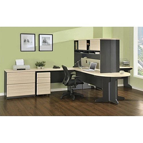 Ameriwood Home Pursuit U-Shaped Desk with Hutch Bundle, Natural by Altra Furniture (Image #4)