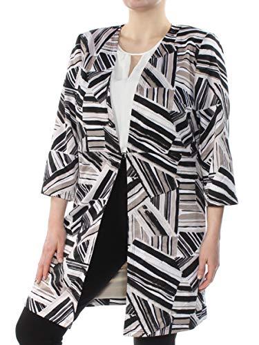 Kasper Women's Plus Size Abstract-Print Ottoman Jacket (20W, Clay Multi)