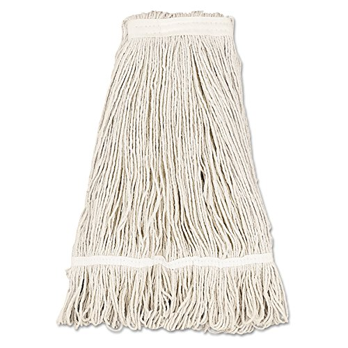 Boardwalk UNS 432C BWK432C Mop Head, Pro Loop Web/Tail Band, Premium Standard Head, Cotton, 32 oz., White (Pack of 12) by Boardwalk
