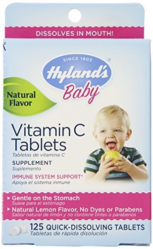- Hylands Vitamin C Tablets Lemon 125 Tablets (Pack of 2) by Hyland's Homeopathic